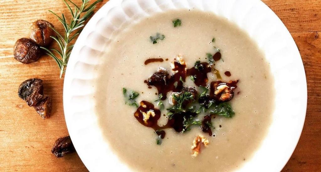 Zupa krem z kasztanów i selera